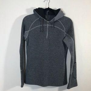 Prana wool half zip flared sleeve hoodie